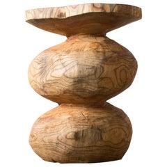 Hiroyuki Nishimura Furniture Sculptural Wood Stool10-06 Tribal Glamping