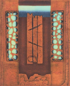'Abstract in Turquoise and Copper', Sosaku-Hanga, NMAO, Tokyo, LACMA, Benezit