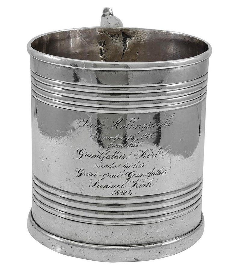 Historic Antique Kirk Family Sterling Cup For Sale 2