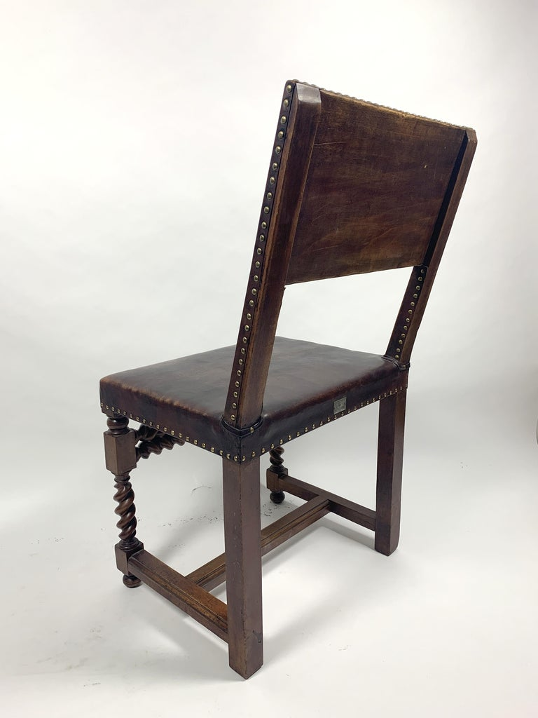 Historic Arts & Crafts Leather Chair, 1970s For Sale 5