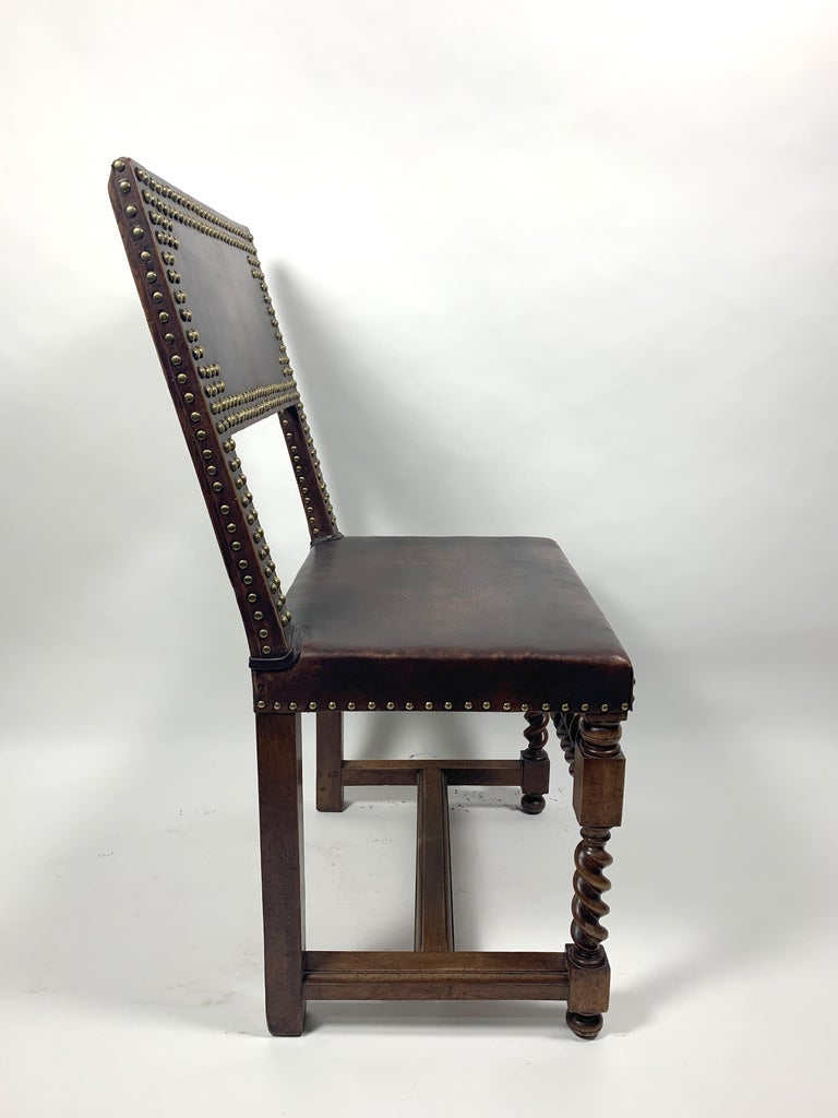 Historic Arts & Crafts Leather Chair, 1970s For Sale 2