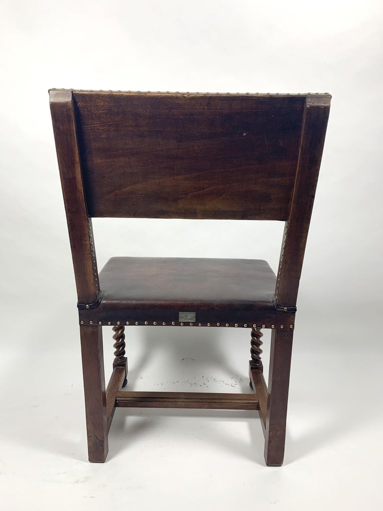 Historic Arts & Crafts Leather Chair, 1970s For Sale 3
