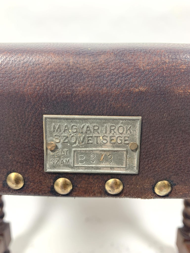 Historic Arts & Crafts Leather Chair, 1970s For Sale 4