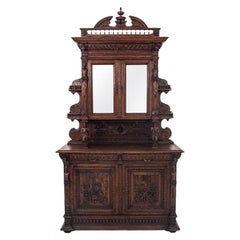 Historic Carved Cupboard, France, circa 1880