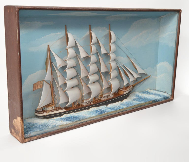 Historic Diorama Featuring the Four Masted Barque 'William P. Frye' at Full Sail 1
