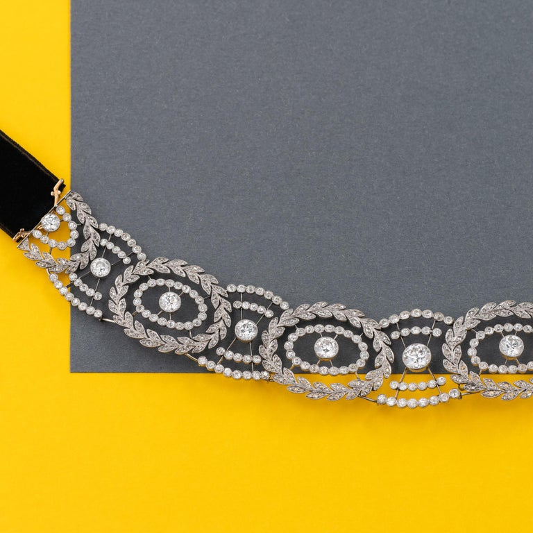 Historic Edwardian Prussian Royal Jeweler Diamond Platinum Convertible Tiara For Sale 5