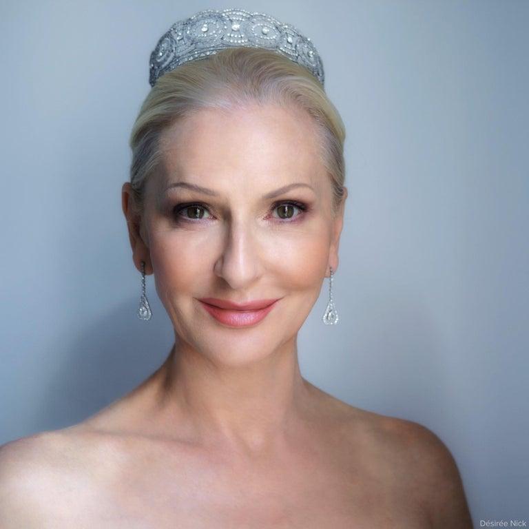 Historic Edwardian Prussian Royal Jeweler Diamond Platinum Convertible Tiara For Sale 10