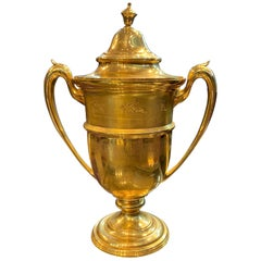 """Historic Gold Equestrian Trophy """"Cup"""" by Black Starr and Frost"""