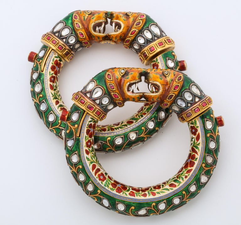 Historic Pair of Indian Bangles 3