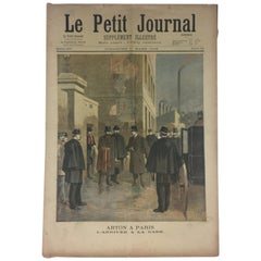 Historical 1896 French Memorabilia Le Petit Journal Paris/Villefranche