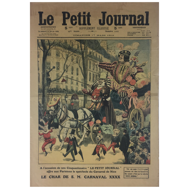 Carnaval de Nice, France Historical 1912 French Memorabilia LP Journal