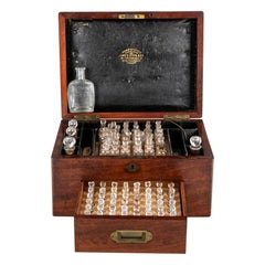 Historical 19th Century English Apothecary Box with Contents
