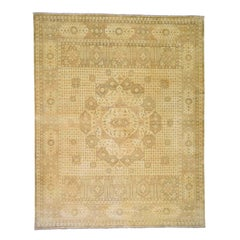 Historical Egyptian Mamluk Hand Knotted Pure Wool Oriental Rug