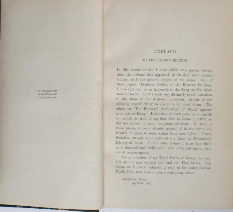 Historical Essays by Edward A. Freeman in Three Volumes For Sale 4