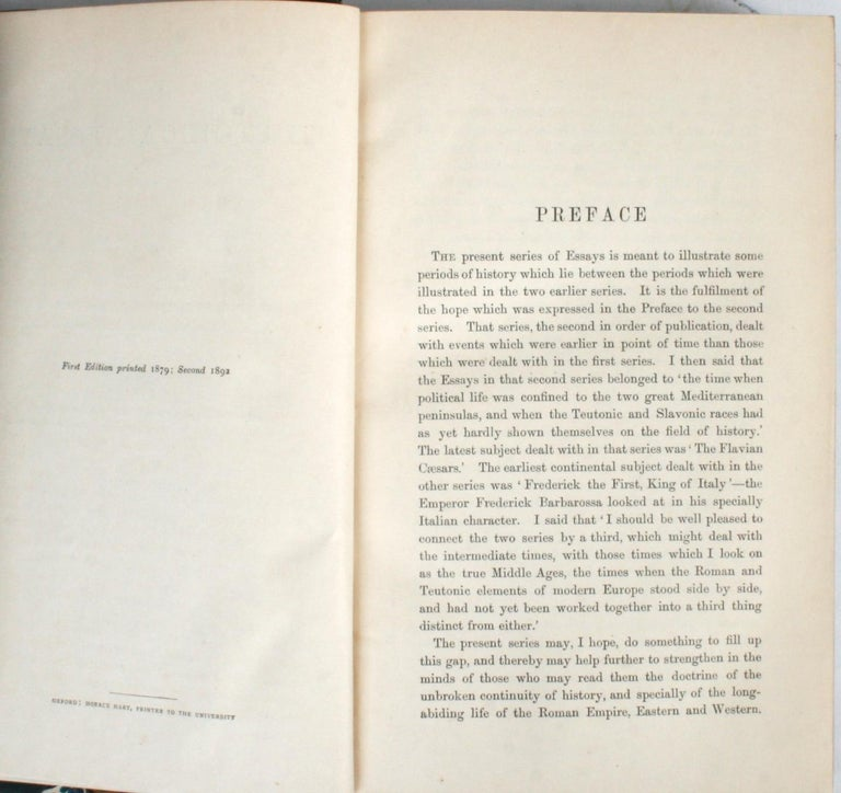 Historical Essays by Edward A. Freeman in Three Volumes For Sale 5