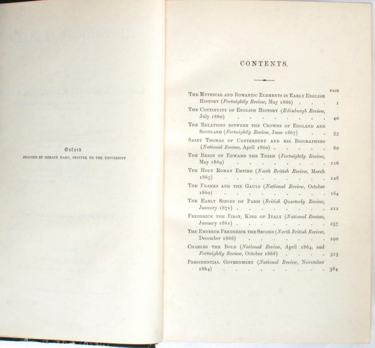 Gilt Historical Essays by Edward A. Freeman in Three Volumes For Sale