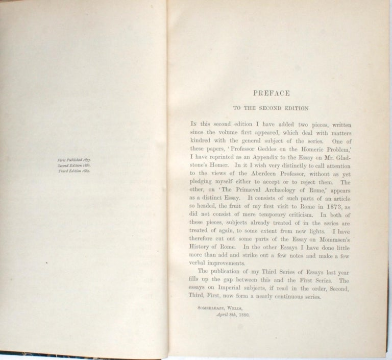 19th Century Historical Essays by Edward A. Freeman in Three Volumes For Sale