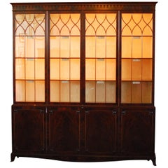 Historical George III Mahogany Display Cabinet Bookcase