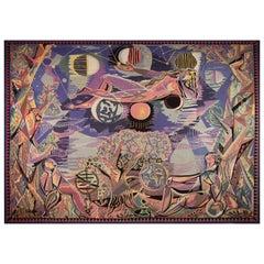 Historical Modern Tapestry Designed by Claude Dodane, Allegorie Du Temps