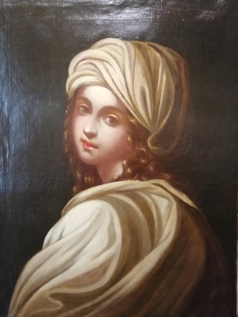 Italian painter, mid-18th century Historical portrait of Beatrice Cenci Not signed  Daughter of Count Francesco Cenci, a violent and dissolute man, and of Ersilia Santacroce, after her mother's death was given to seven years, in June 1584,