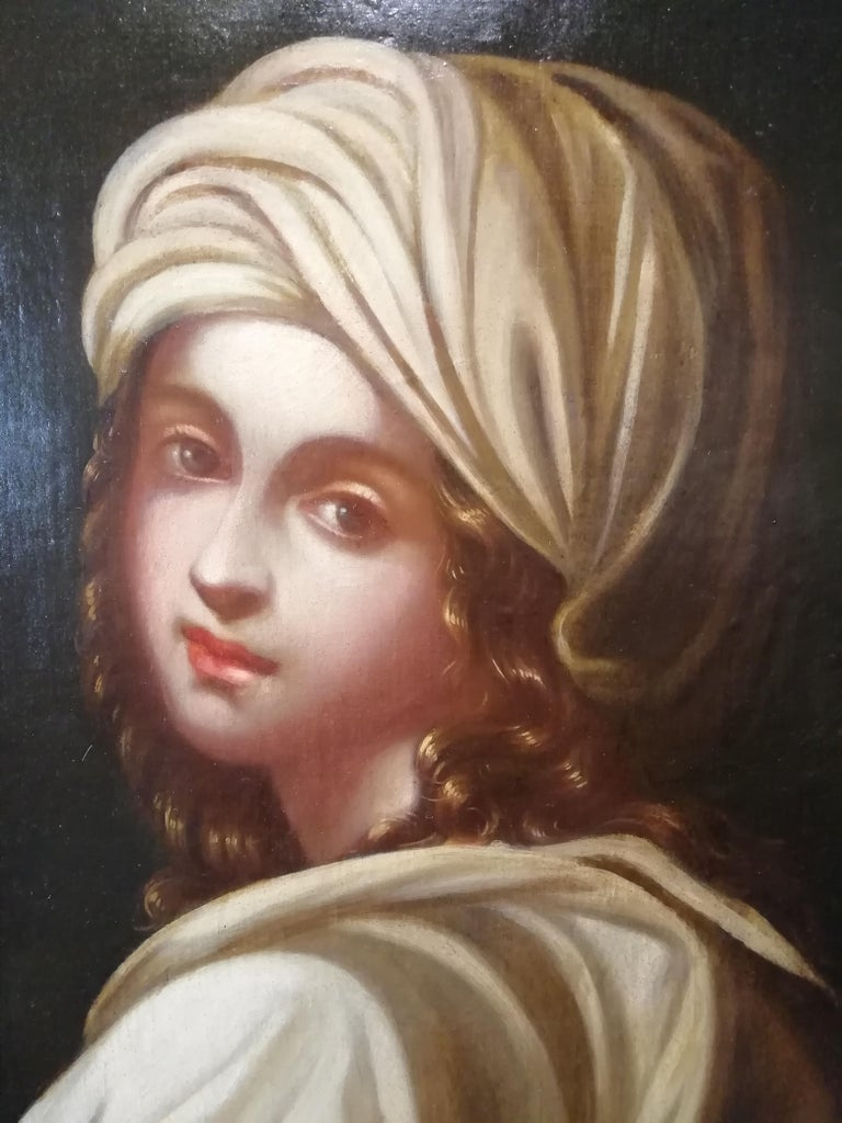 Historical Portrait of Beatrice Cenci, Italian Painting, Mid-18th Century Oil In Good Condition For Sale In Rome, Italy