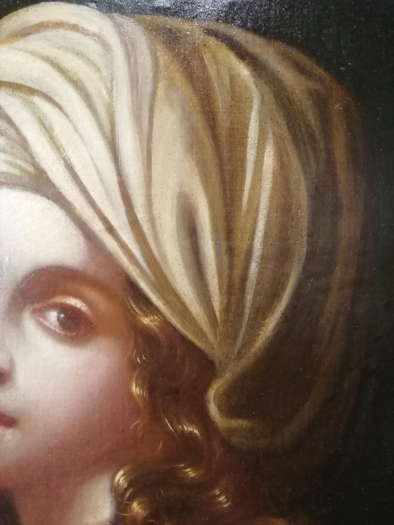 Historical Portrait of Beatrice Cenci, Italian Painting, Mid-18th Century Oil For Sale 2