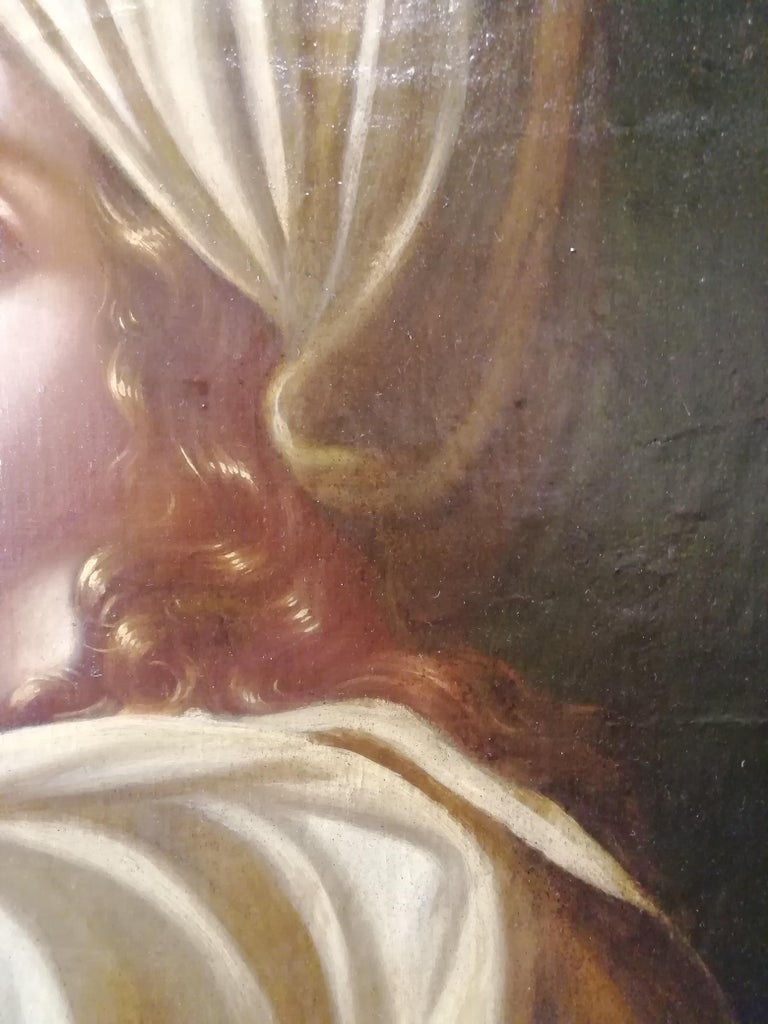 Historical Portrait of Beatrice Cenci, Italian Painting, Mid-18th Century Oil For Sale 3