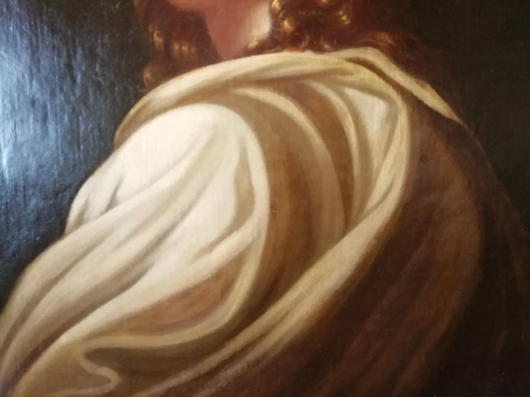 Historical Portrait of Beatrice Cenci, Italian Painting, Mid-18th Century Oil For Sale 4