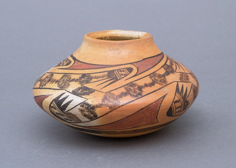 American Historical Southwestern Pottery Seed Jar by Nampeyo, Hopi, Early 20th Century For Sale