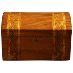 Historicism Casket Box, Walnut, Maple and Plum, South Germany circa 1880