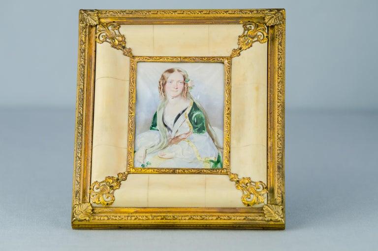 Historistic Bone Picture Frame, circa 1890s For Sale 4
