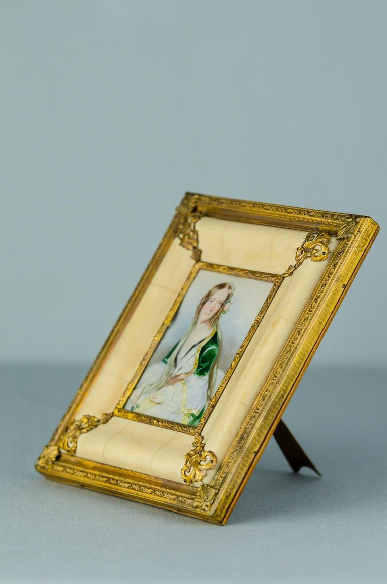 Austrian Historistic Bone Picture Frame, circa 1890s For Sale