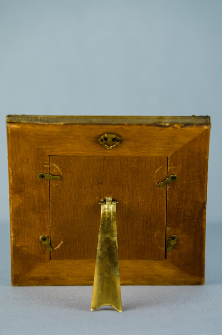 Historistic Bone Picture Frame, circa 1890s In Good Condition For Sale In Wien, AT
