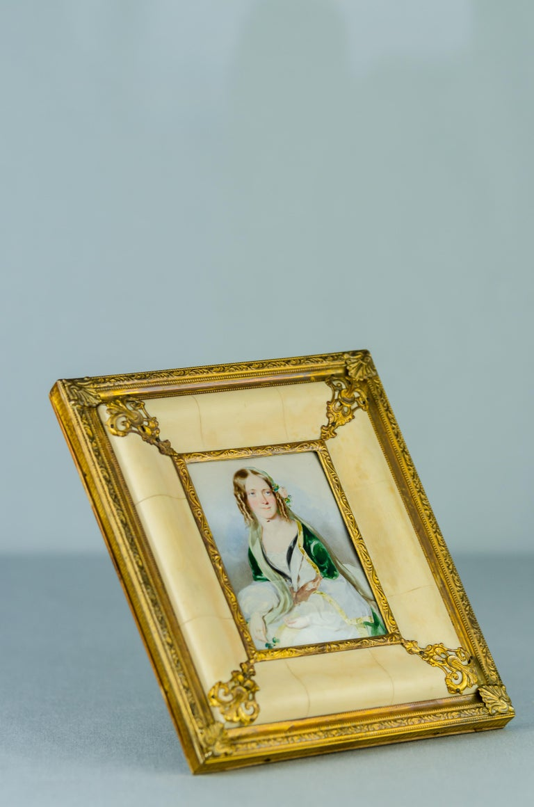 Late 19th Century Historistic Bone Picture Frame, circa 1890s For Sale