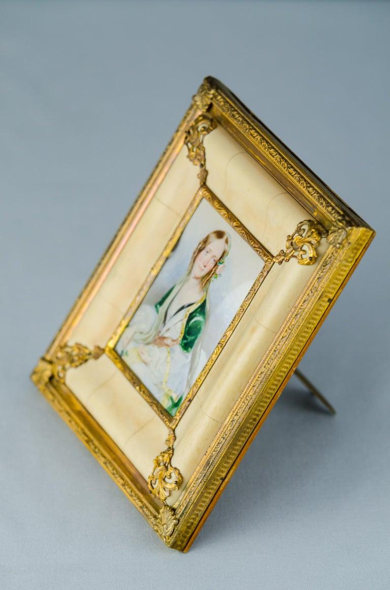 Historistic Bone Picture Frame, circa 1890s For Sale 1
