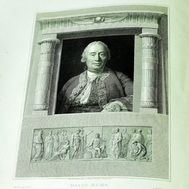 Hume, David. The History of England, from the Invasion of Julius Caesar to the Revolution in 1688. London: Robert Bowyer, printed by T. Bensley, 1806. Large folio (20 in. tall), ¾ green Morocco over marbled paper boards, gilt spine lettering and