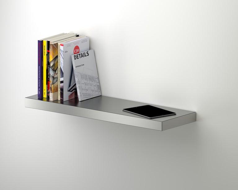 Italian Contemporary Shelf Gold Hitan Aluminium by Chapel Petrassi For Sale