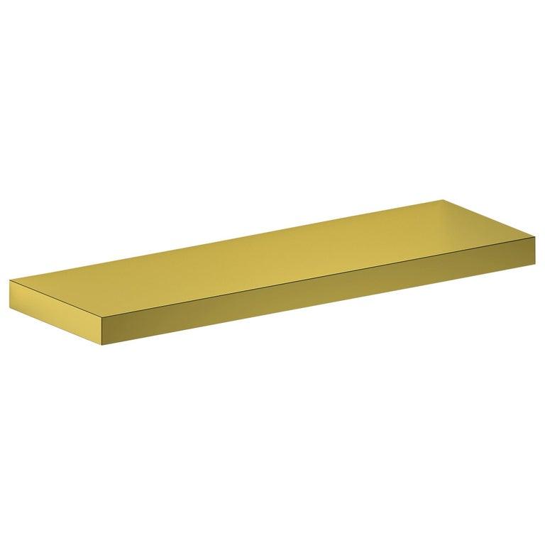 Contemporary Shelf Gold Hitan Aluminium by Chapel Petrassi For Sale