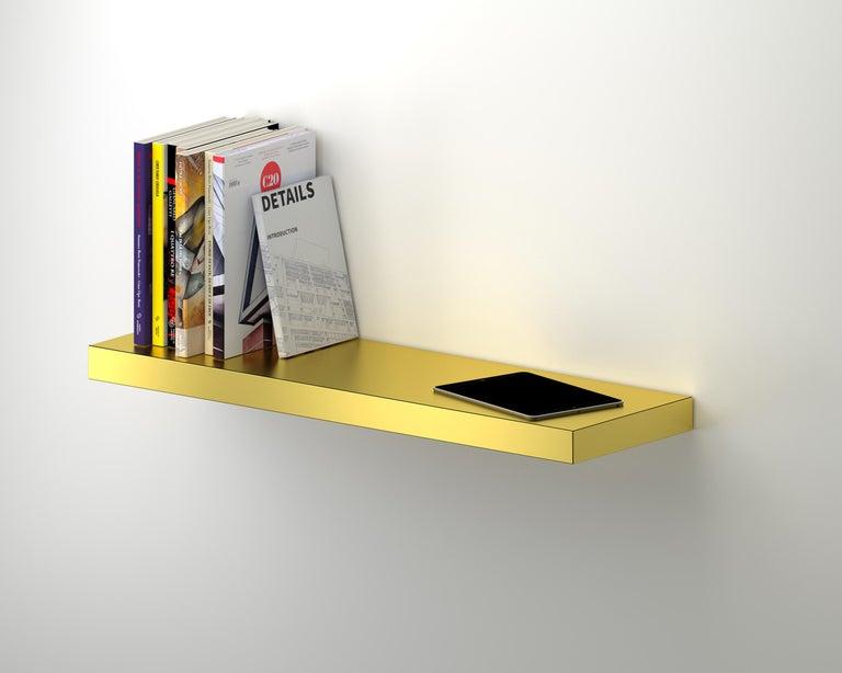 Italian Contemporary Shelf Rose Gold Hitan Aluminium by Chapel Petrassi For Sale