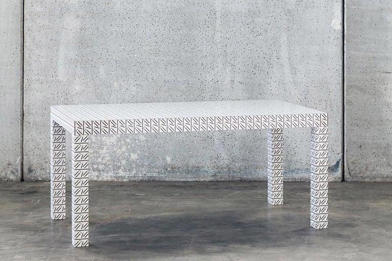 Italian Hitan Table California White For Sale