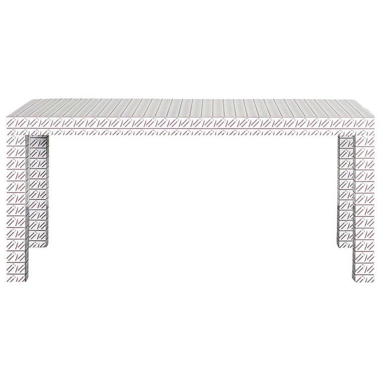 Hitan White California Table by Chapel Petrassi