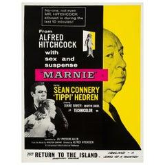"Hitchcock ""Marnie"" Original Vintage Movie Poster, British, 1964"