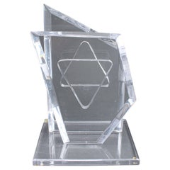 Hivo Van Teal Judaica Modern Lucite Star of David Sculpture