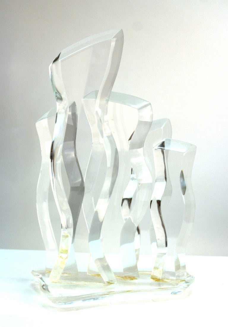 Hivo Van Teal Mid-Century Modern Abstract Lucite Sculpture For Sale 2
