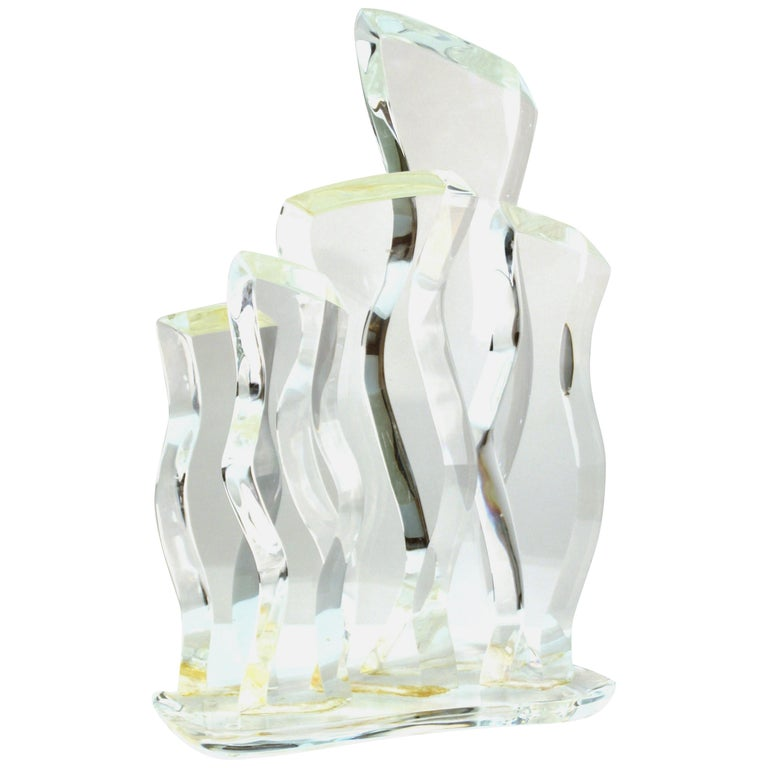 Hivo Van Teal Mid-Century Modern Abstract Lucite Sculpture For Sale