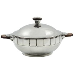 H.J. Geneve Pewter Tureen Covered Dish Centerpiece