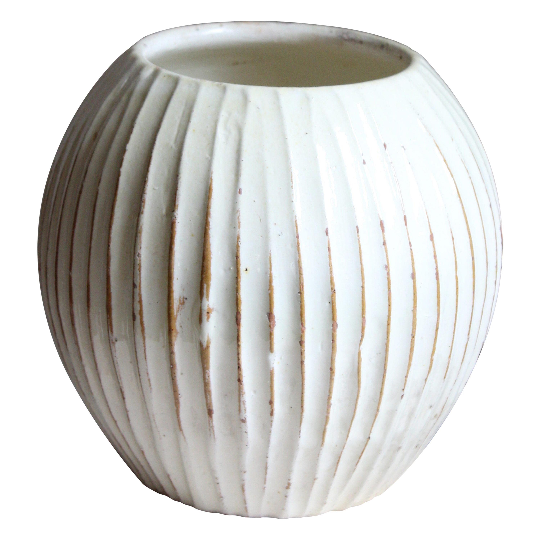 Hjalmar Møller, Sizable Vase, Glazed Stoneware, Artists Studio, Denmark, 1938