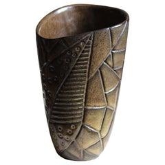 """Hjördis Oldfors, """"Ibiza"""" Vase, Stoneware, Upsala-Ekeby, Sweden, 1958"""