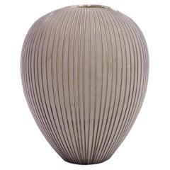 Hjördis Oldfors, Kokos Earthenware Vase, Upsala Ekeby, 1950s