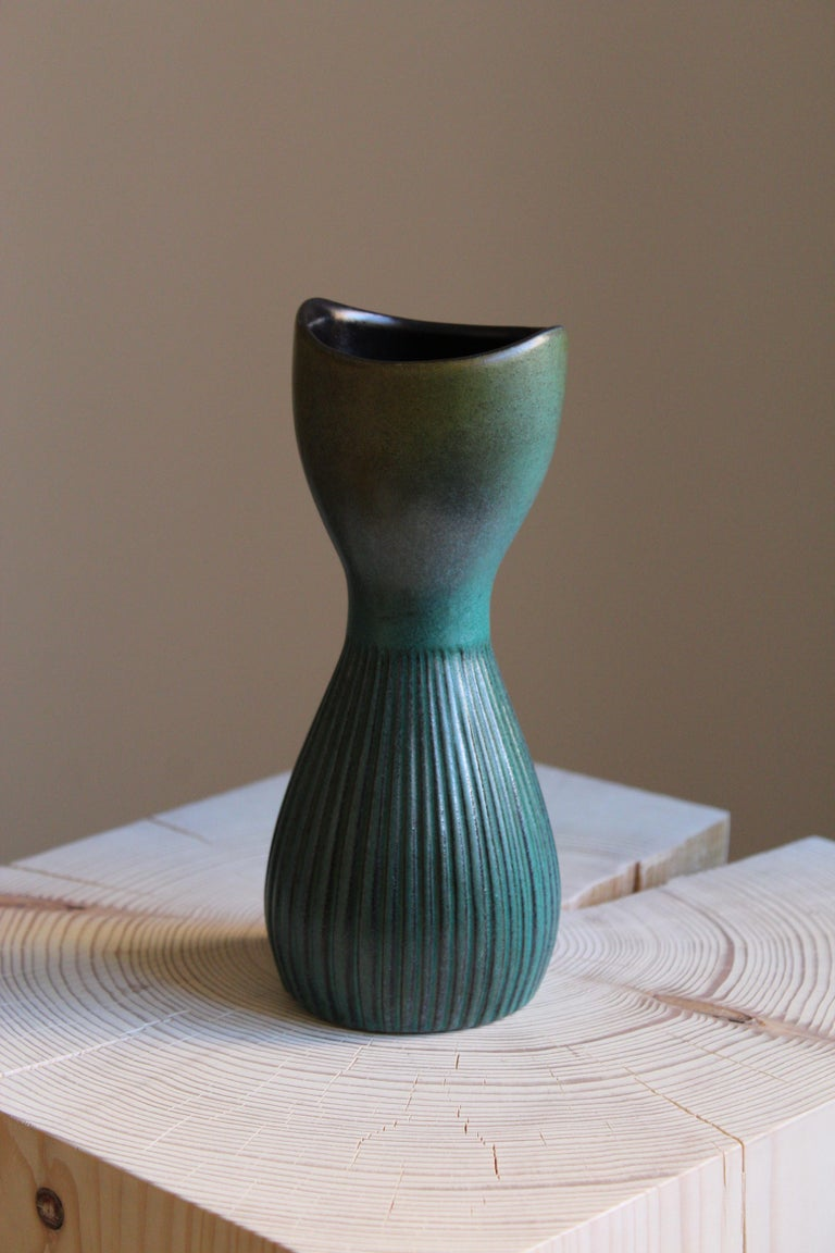A vase. Designed by Hjördis Oldfors, for Upsala-Ekeby, Sweden, 1950s-1960s